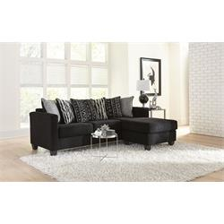 BLACK REVERSIBLE SOFA-CHAISE 3016  Image